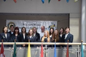 2015-2016 Outbound Class of Youth Exchange Students with Outbound Program Coordinator John Yost