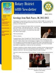 District Governor Newsletter - July 2012