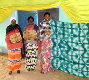 Women from Gahurire Village display some of their crafts.