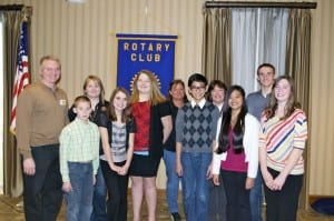 The WMDS Interact Club members, sponsored by the Pulaski County Rotary Club, are pictured with Club President David Lowe, and teachers Stephanie Peace, Jena Hale and Kelly Howley.