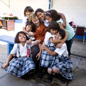 """Isabel de Bosch, a member of the Rotary Club of Ciudad de Guatemala, was the first woman to become a Rotarian in Guatemala City, Guatemala. She founded Fundaninas, a facility that houses, feeds, and educates abused and abandoned girls ages 2-18. Rotary Foundation Matching Grants in 1991 and 1997 helped fund bunk beds, sheets, and pillows, and outfit the kitchen and bathrooms. Now a Matching Grant project with the Rotary Club of Winterthur, Switzerland, is helping to provide a """"soy cow"""" -- a machine that grinds and processes soy beans to make soy milk."""