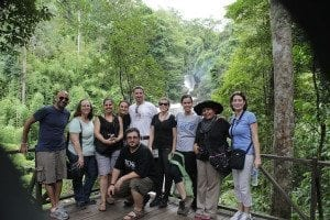 The Rotary Peace Fellows at the National Park of Chang Mai Thailand.