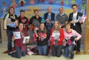 Members of Sterling Elementary Staff and also some members of the Early-Bird Rotary Club.