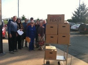 Photo-Service project with Bob Evans to deliver meals for Easter 04-02-20151