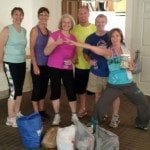 The Rotary Club of Mountain View participates in the Zumbathon food/cash collection.