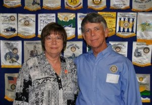 Buffalo: Mary Ellen Chapman, current president and president-elect, and Ron Locke, Foundation chair.