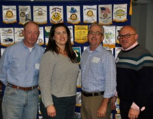 Columbia Sunrise Southwest: Don Ladd, president; Janie Schleppers, secretary-elect; Mike Burrell, community service co-chair; and Tony Spicci, president-elect.
