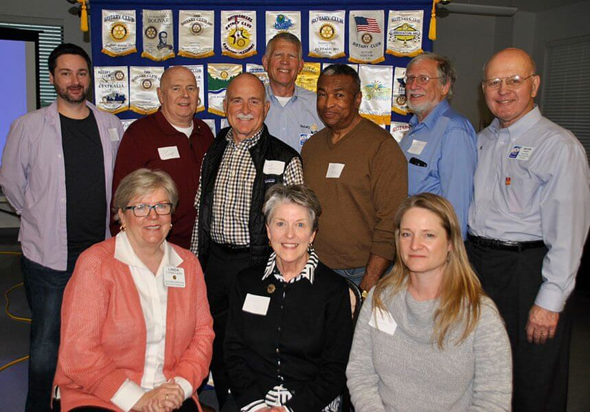 Columbia: from left, (front row) Linda Ladd, Margie Meyer, Jody Rae Miller; (back row) Neil Carr, Bob Churchill, Mike Randerson, Marty Walker, John French, Al Tacker and Melvin Platt.