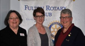 Fulton: from left, Joan Morris, treasurer-elect; Jennifer Books, president-elect; and Mary Ann Beahon, president and district public image chair