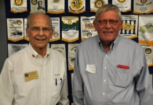 Rolla: Dick Mazanec, district secretary and member of the Rolla Rotary Club, and Steven Shields, president-elect of the Rolla Breakfast Rotary Club.