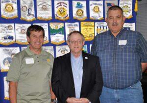 Springfield Sunrise: Ken Homan, president; Rowland Geddie, international service chair; G.R. Stoval, president-elect.