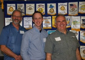 West Plains: John Kenslow, president-elect; Brian Cope, secretary; and Mark Lewis.