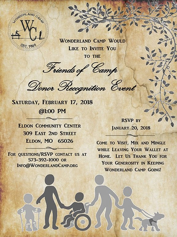 Friends of Camp Donor Recognition Event
