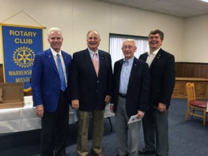 Warrensburg PDGs Jerry Franklin, Duane Sterling, Mark Pearce