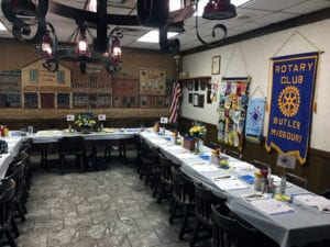 Butler Rotary decorated by member Roberta Sage