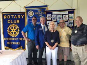 Jeff City West Pres Tim Haas and Club Members