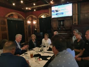 Meeting with Board at Rolla Noon club