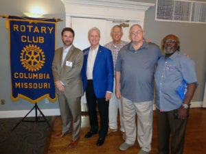 Columbia Rotary Members Neil Carr (Pres), Marty Walker (AG), Rollie Hausman, Charles Sampson