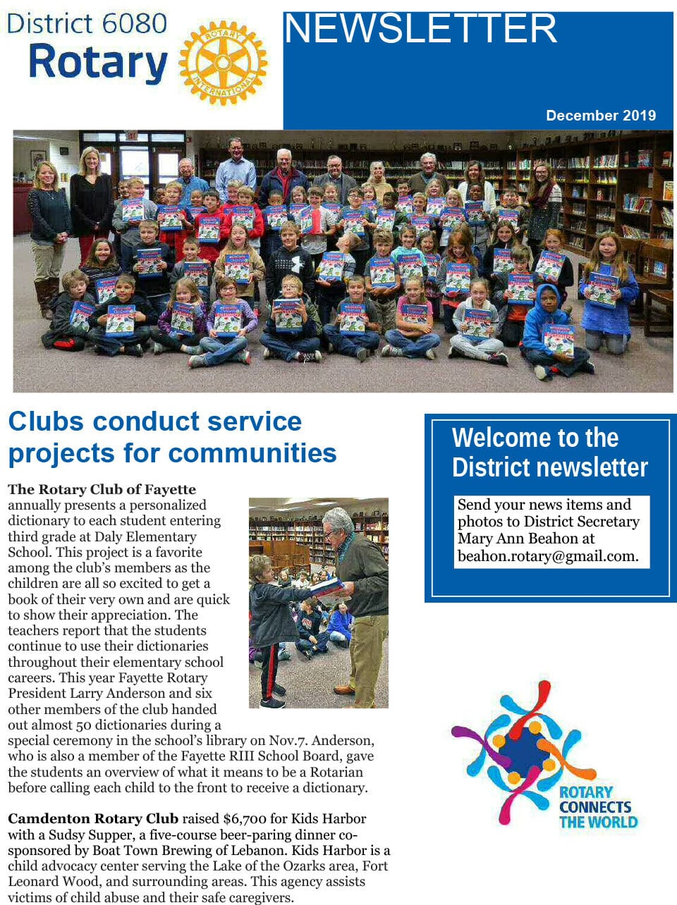 December 2019 District Governor Newsletter