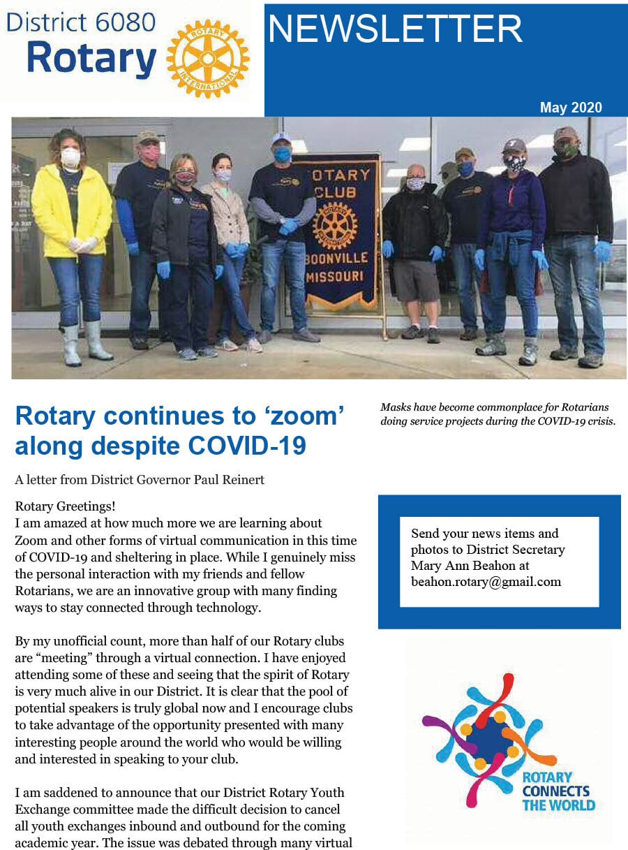 May 2020 District Governor Newsletter